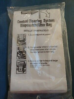 6x CENTRAL VACUUM BAGS for Nutone 391 3918 391-8 44186 Cental Cleaning System