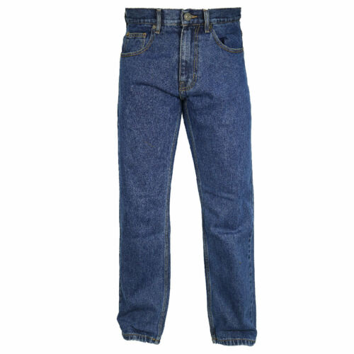 Mens Regular Fit Hard Wearing Jeans By Denim and Dye Straight Leg Waist 42-50