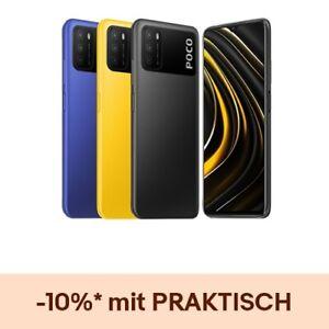 "Poco M3 4GB 64GB Handy 6,53"" FHD+ 6000mAh 48MP DualSIM Smartphone Global Version"