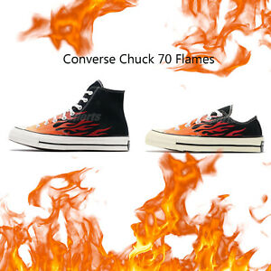 Converse-First-String-Chuck-Taylor-All-Star-70-Flames-Hi-Low-Men-Women-Pick-1