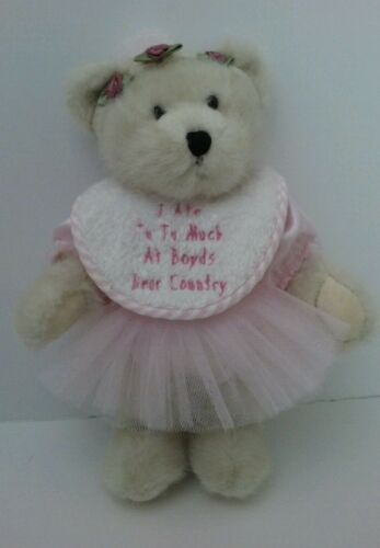 "Boyds White Girl Bear AUDREY TIPPEETOES Ballerina 11"" plush bear wTag #912054"