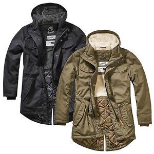 Brandit Men/'s Bronx Jacket Men Winter Jacket Parka with Hood S M L XL XXL