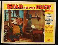 "STAR IN THE DUST John Agar Mamie Van Doren ORIG 1956 MOVIE LOBBY CARD 11"" x 14"""