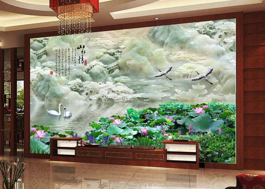 3D Hills Adorn 4067 Wallpaper Murals Wall Print Wallpaper Mural AJ WALL UK Lemon