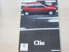 52427) Renault Clio A UK Prospekt 03/1991