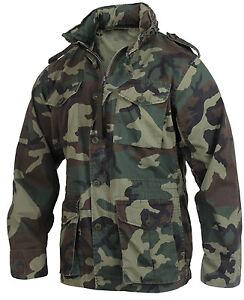 2851 Leggero Giacca Militare Vintage Bosco M65 Rothco Mimetico w05ptnxqpF