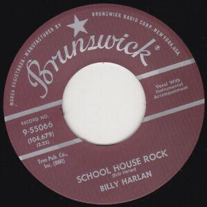 "BILLY HARLAN - School House Rock  7"" 45"