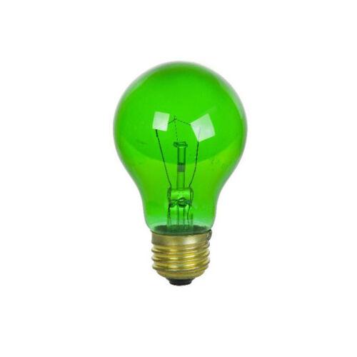 2Pk SUNLITE 25w A19 120v Medium Base Transparent Green Bulb