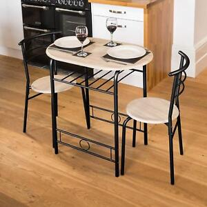 Small Kitchen Tables And Chairs | Details About Small Kitchen Table 2 Chairs Space Saver Dining Table Set Breakfast Bar Black