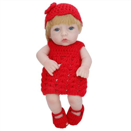 Waterproof Full Silicone Body Reborn Baby Girl Doll Durable Lifelike Cute Toy
