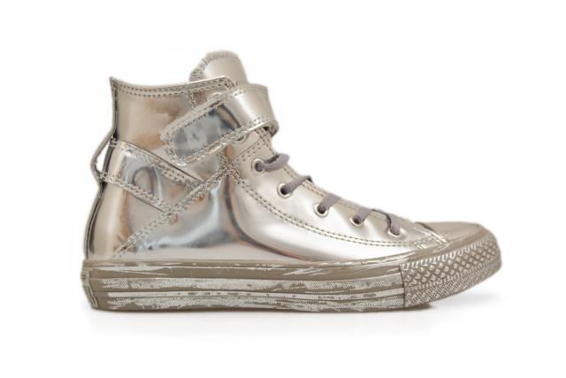 c9d79c8c6917 Chuck Taylor Converse All Star Brea Hi-top Silver Chrome Shoes Size 6.5