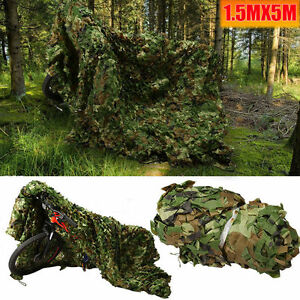 16FTx5FT Camouflage Netting Military Army Camo Hunting Shooting Hide Cover Net