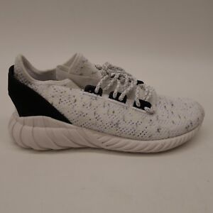 New-Adidas-Mens-BY3558-Tubular-Doom-Sock-White-Primeknit-Athletic-Shoes-Size-7-5