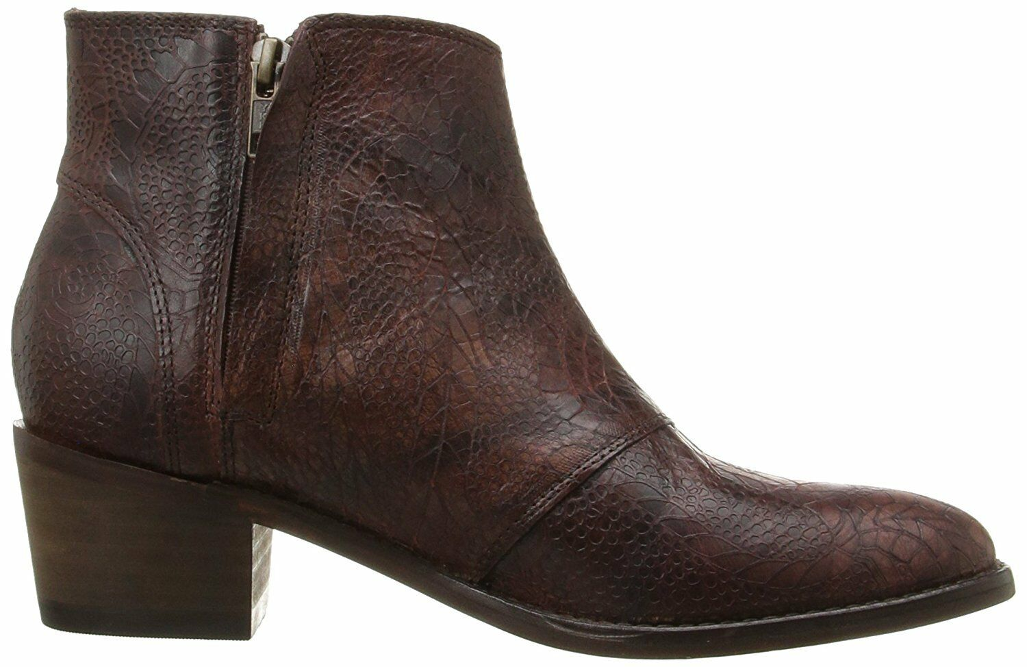 Wolverine Roxana Womens Leather Ankle Boots, Brown Floral, US 8, Runs small