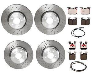 Brembo Front and Rear Brake Kit Disc Rotors Ceramic Pads Sensors For BMW F22 F30