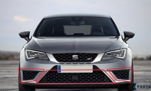 NEW GENUINE SEAT LEON CUPRA 13-17 FRONT LEFT N//S RIGHT O//S CENTER GRILL SET