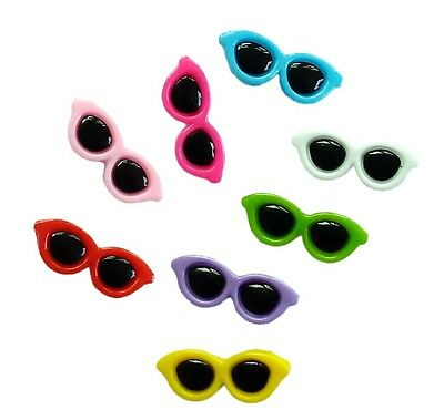 10pcs Assorted Glasses Acrylic Pet Dog Cat Hair Clips Baby Girl Hair Accessories
