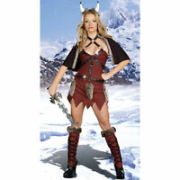 Womens Viking Warrior Costume Soldier Fancy Dress Medium 8 - 10