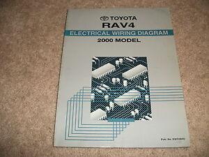 2000 Toyota RAV4 Electrical Wiring Diagram Manual OEM   eBay