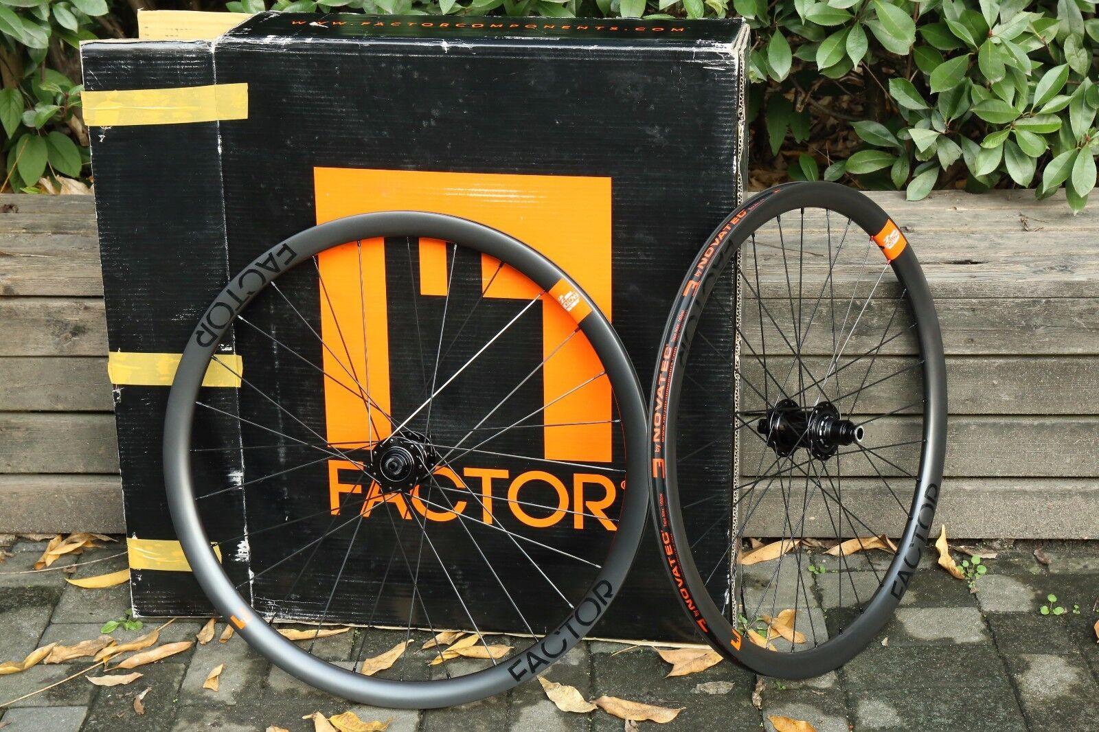 Novatec Factor 326 Carbon 32mm Clincher Wheelset  Front & Rear 12x142mm100x15mm