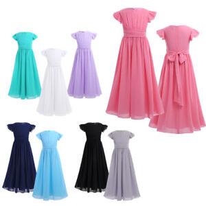 About Show Dress Bridesmaid Girls Original Party 164 Wedding Long Size Chiffon Title Details Dresses 104 b7yf6g