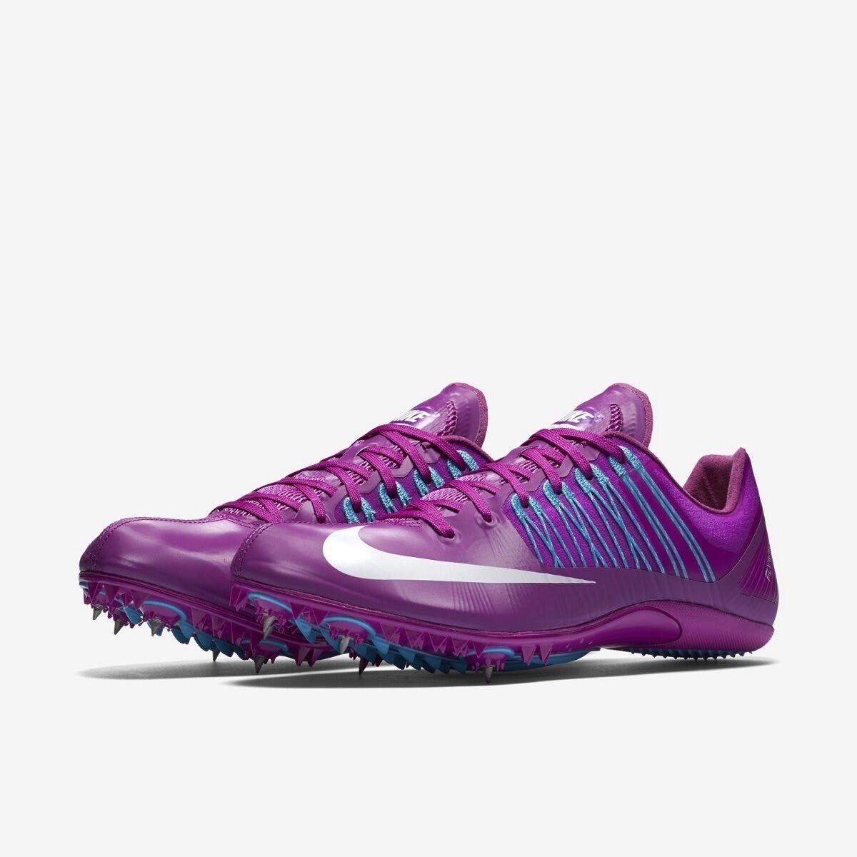 Nike CELAR V Sprint Running purple blueE 629226 514 SIZE 9.5 with Xtra Spikes&SRT