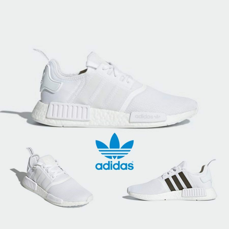 306cb145f Adidas Original NMD R1 Runner Shoes Running White Grey Black CQ2411 ...