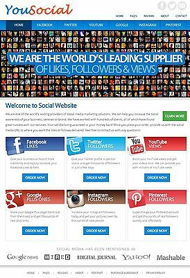 Social Marketing Services reseller Website