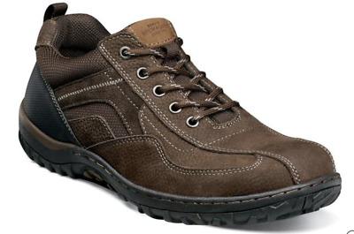 Nunn Bush Quest Bike Toe Oxford Walking Shoes Brown 84826