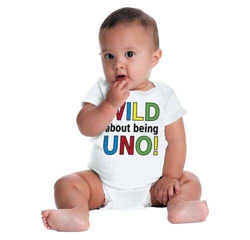 Wild Being Uno Funny ShirtCute Baby Cool G Newborn Romper Bodysuit For Babies
