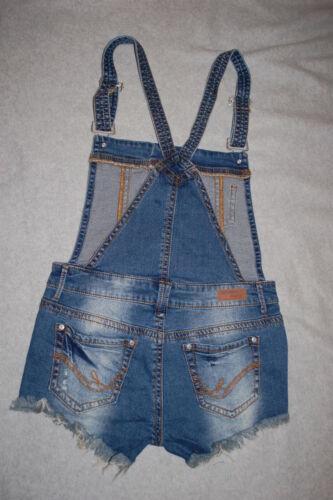 Salopette Jean Womens Jr en Shorts salopettes Bleu difficult Denim HTxwwqtRg