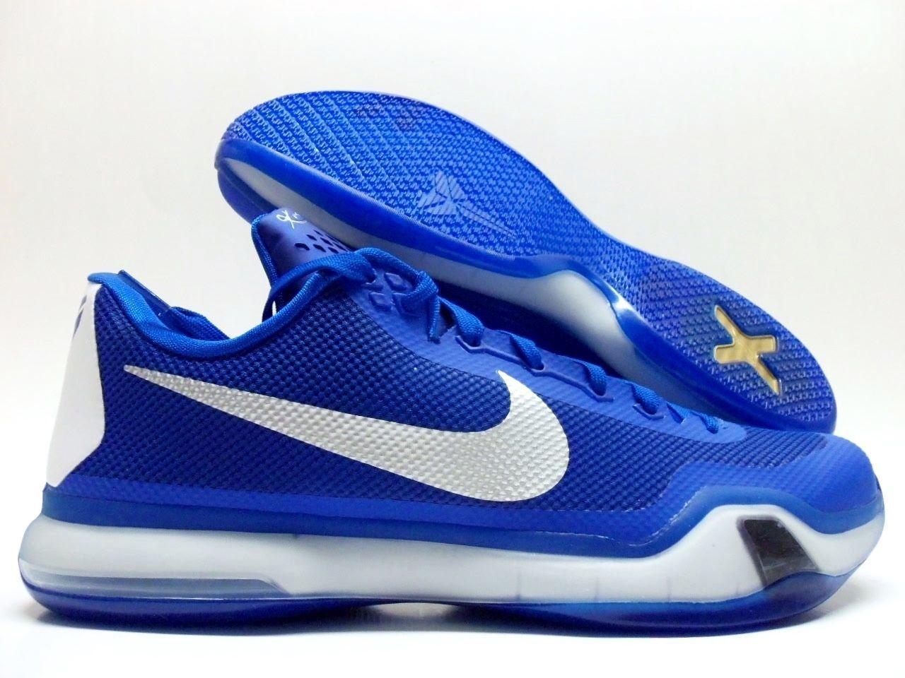 NEW Nike Kobe X 10 Tb 813030 Silver 402 Game Royal Metallic Silver 813030 White Mens 16.5 ANB 753f08