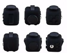 SALE! FULL BLACK! FIDGET CUBE TOY ANTI STRESS ANXIETY RELIEF RELAX FOCUS 6 SIDE