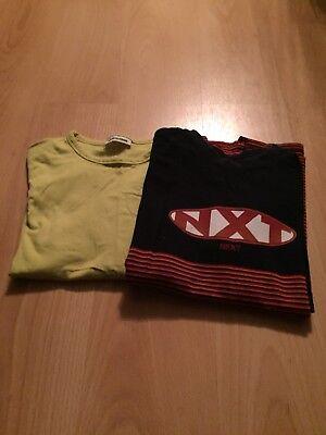 2 X Ragazzi A Maniche Corte Tshirts-usato-invecchiato 10-11 Anni- Dolcezza Gradevole