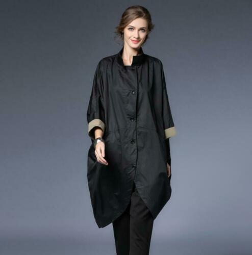 Cropped Batwing Loose Long Occident Trench Mid Fit Sleeves 4 New Coats Women's 3 qHTnR