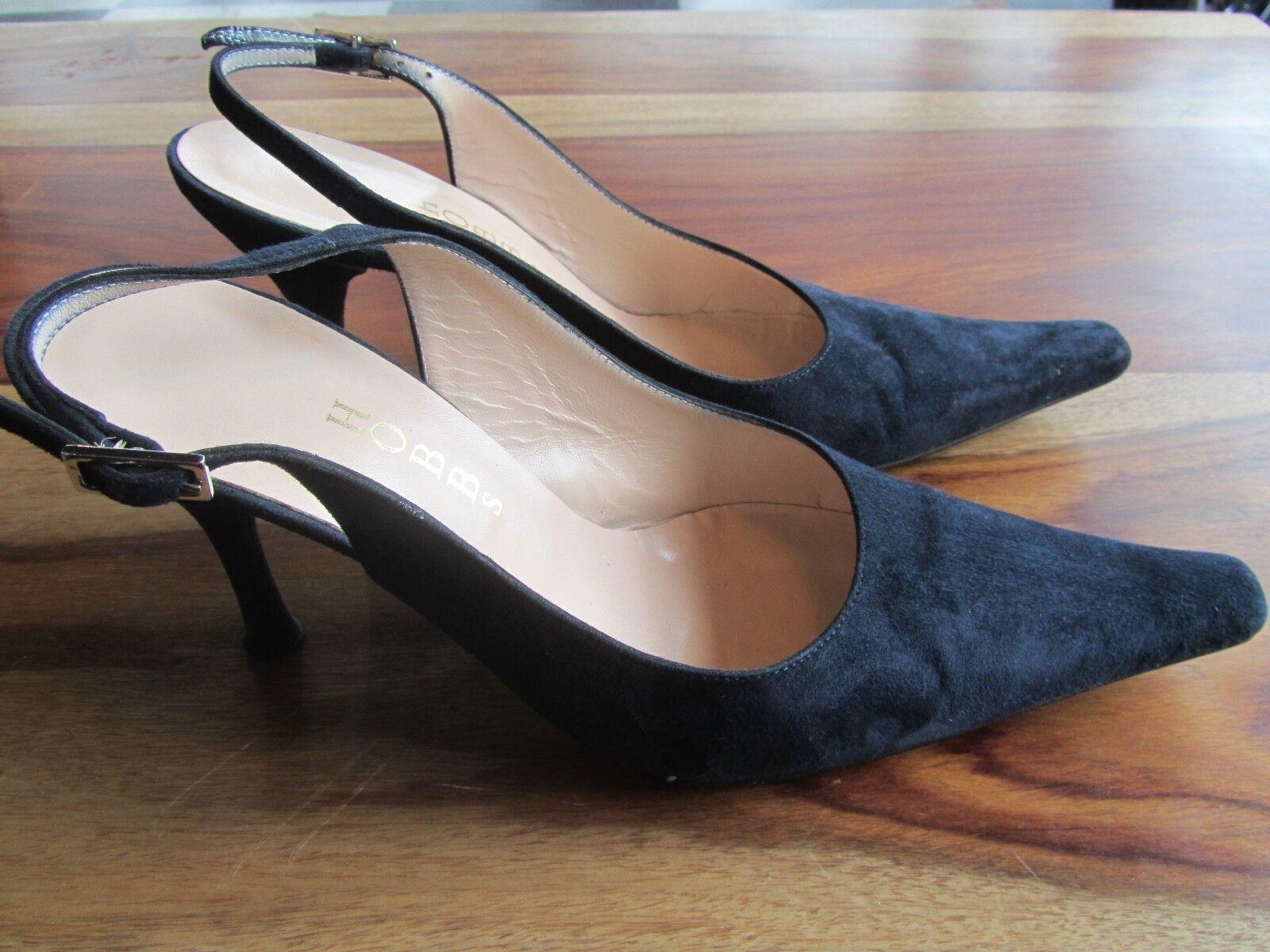 GORGEOUS SLINGBACK HOBBS SILVIA NAVY SUEDE SLINGBACK GORGEOUS Schuhe SIZE 36 80mm HEELS a317e2