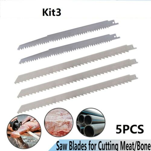 5 X Reciprocating Saw Blade  Stainless Steel Blade Cutting Frozen Meat,Ice,Wood