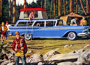 Refrigerator Magnet 1970 Ford Country Squire station wagon 40 MIL