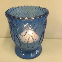 NEW Blue Vintage Fluted Glass Tea Light Holder/Votive Wedding Table Decor