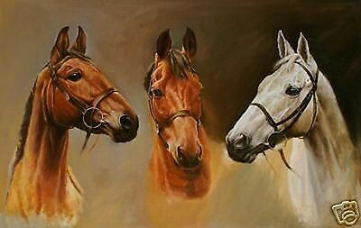 """Art Repro oil painting:""""Three Horse In canvas"""" 24x36 Inch"""