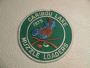 1975 Caribou Lake Minnesota Museau Chargeurs Fusil Fusil De Chasse De La Faune Patch Nouveau-afficher Le Titre D'origine