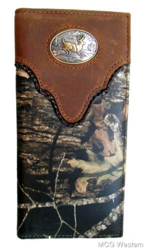 Nocona Western  Mens Wallet Rodeo Deer Buck Camo Brown N54208222