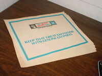 Vintage Gm Chevrolet Pontiac Buick Olds Mr Goodwrench Paper Floor Protectors