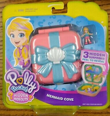Polly Pocket Hidden Hideouts Polly Mermaid Cove Compact Play Set