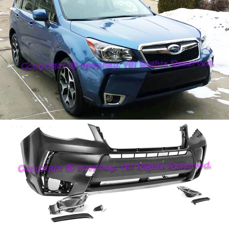 For 14-18 Subaru Forester XT Style Front Bumper Conversion /& Fog Light Cover