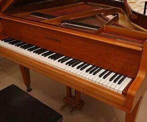 Plus Rarement Grotrian Steinweg Quart De Queue Grand Piano Ailes Salon Ailes-afficher Le Titre D'origine