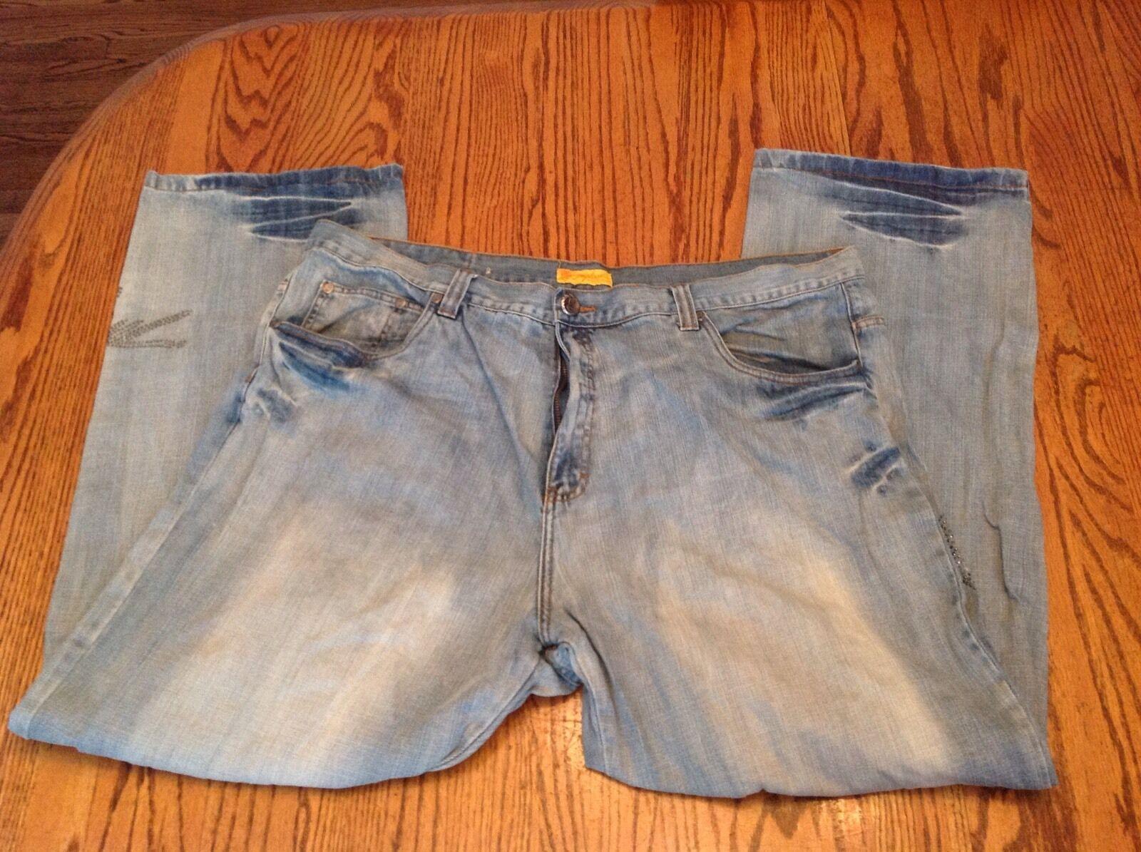 Miskeen Big Men Denim bluee Jeans Light Wash Size 44 32