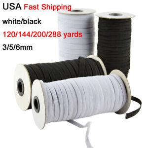 200 Yards Braided Elastic Band Cord Knit 1//8 Inch Stretch String DIY Sewing Face