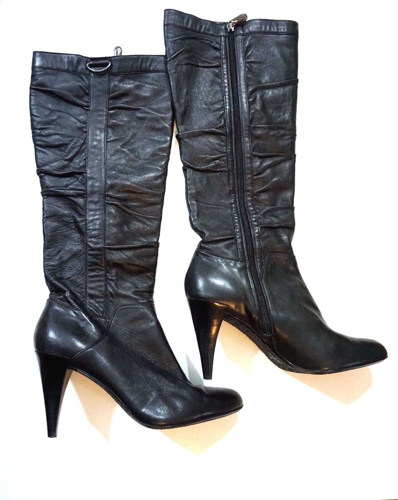 Adrienne Vittadini Sunny bottes femme bottes cuir noir 9.5