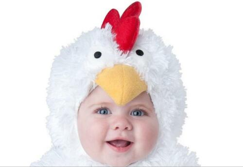 Costume Baby Girl Boy Chicken White Suit Animal Birthday Halloween Dress Outfits